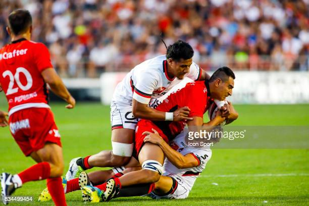 Rudy Gahetau of Toulon during the preseason match between Rc Toulon and Lyon OU at Felix Mayol Stadium on August 17 2017 in Toulon France