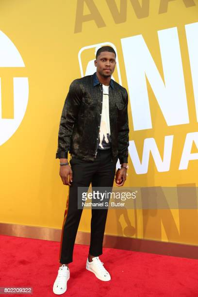 Rudy Gay arrives at the red carpet at the NBA Awards Show on June 26 2017 at Basketball City at Pier 36 in New York City New York NOTE TO USER User...