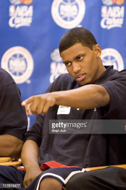Rudy Gay during Top 2006 NBA Draft Prospects Take Part in Jr NBA/JR WNBA Fitness Clinic with Kids at Baruch College June 27 2006 at Baruch College in...