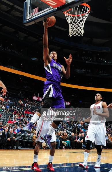 Rudy Gay of the Sacramento Kings goes up for the layup against the Atlanta Hawks on December 18 2013 at Philips Arena in Atlanta Georgia NOTE TO USER...
