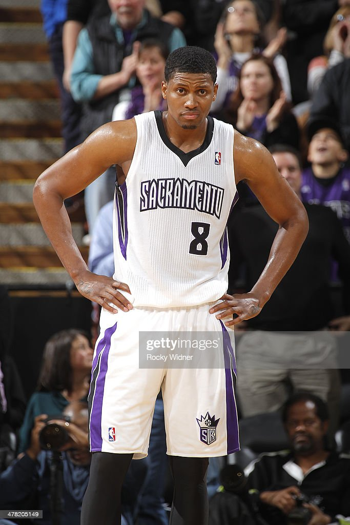 Rudy Gay #8 of the Sacramento Kings in a game against the New Orleans Pelicans on March 3, 2014 at Sleep Train Arena in Sacramento, California.