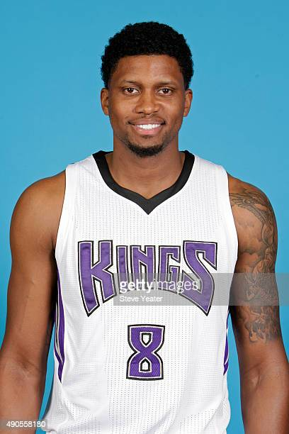 Rudy Gay of the Sacramento Kings poses for a head shot on media day September 28 2015 at the Kings practice facility in Sacramento California NOTE TO...