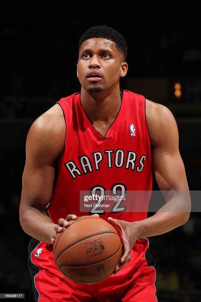 <a gi-track='captionPersonalityLinkClicked' href=/galleries/search?phrase=Rudy+Gay&family=editorial&specificpeople=236066 ng-click='$event.stopPropagation()'>Rudy Gay</a> #22 of the Toronto Raptors attempts a foul shot against the Washington Wizards at the Verizon Center on March 31, 2013 in Washington, DC.