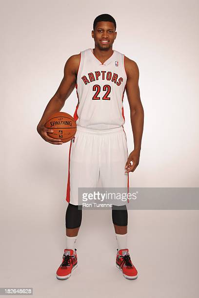 Rudy Gay of the Toronto Raptors poses for a portrait during a Media Day on September 30 2013 in Toronto Canada NOTE TO USER User expressly...