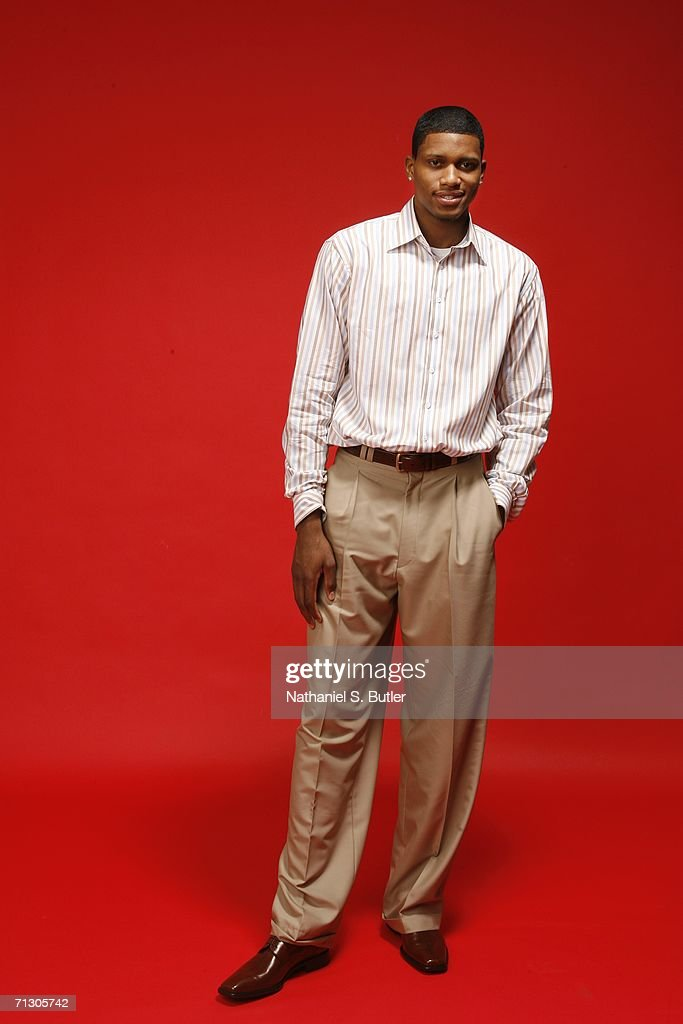 Rudy Gay poses for a portrait during media availability for the 2006 NBA Draft June 27, 2006 at The Westin Hotel Times Square in New York City.