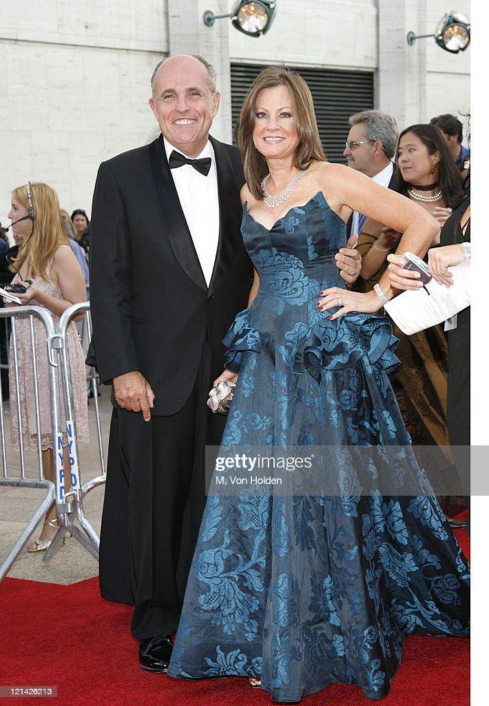 Rudy Giuliani and wife Judith Giuliani during 'Madama Butterfly' Opening Night Starting the Lincoln Center Metropolitan Opera 20062007 Season at...
