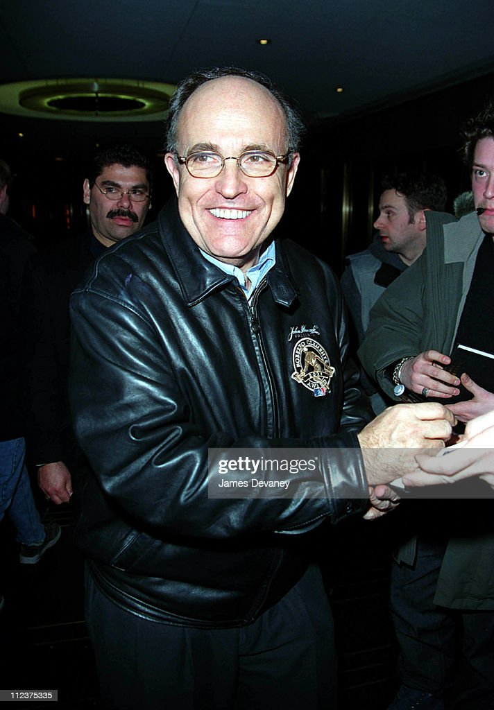 Rudy Giuliani during 'Saturday Night Live' After Party March 16 2002 at Ernie's in New York City NY United States