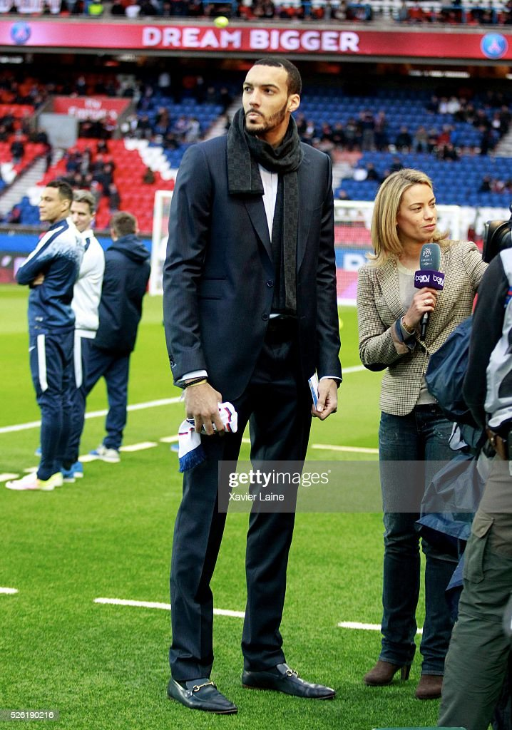 <a gi-track='captionPersonalityLinkClicked' href=/galleries/search?phrase=Rudy+Gobert&family=editorial&specificpeople=7616046 ng-click='$event.stopPropagation()'>Rudy Gobert</a> attends the French Ligue 1 match between Paris Saint-Germain and Stade Rennais at Parc des Princes on April 29, 2016 in Paris, France.