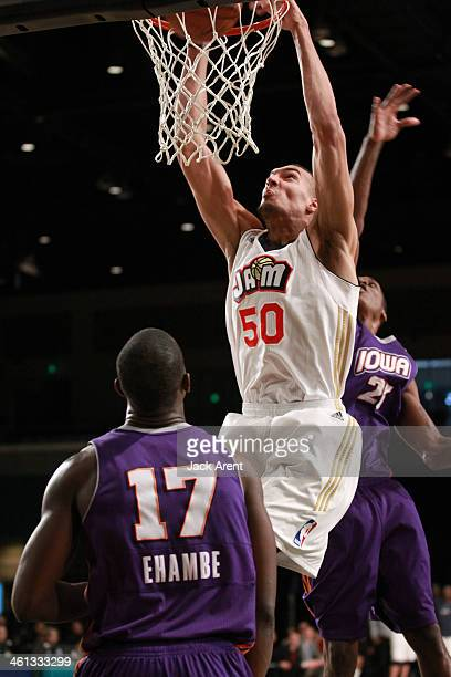 Rudy Gobert of the Bakersfield Jam shoots the ball against the Iowa Energy during the 2014 NBA DLeague Showcase presented by Samsung Galaxy on...