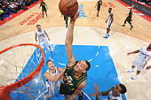 Rudy Gobert of the Utah Jazz dunks against the Los Angeles Clippers on December 29 2014 at STAPLES Center in Los Angeles California NOTE TO USER User...