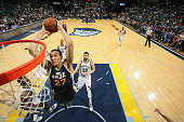 Rudy Gobert of the Utah Jazz dunks against the Memphis Grizzlies on March 3 2015 at FedExForum in Memphis Tennessee NOTE TO USER User expressly...