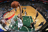 Rudy Gobert of the Utah Jazz dunks against the New Orleans Pelicans at EnergySolutions Arena on November 22 2014 in Salt Lake City Utah NOTE TO USER...