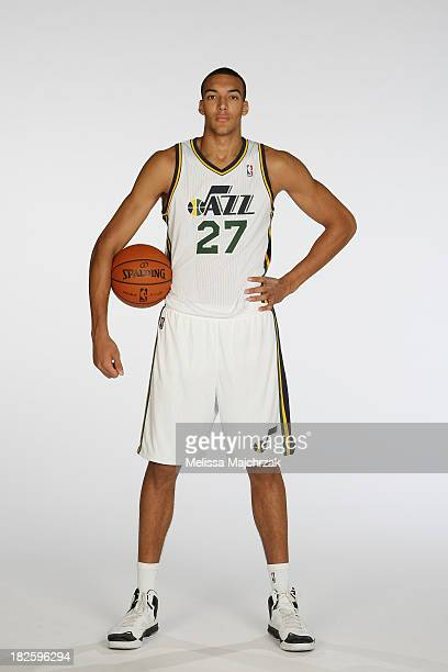 Rudy Gobert of the Utah Jazz poses for a photo during 2013 Media Day at Zions Basketball Center on September 30 2013 in Salt Lake City Utah NOTE TO...