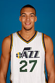 Rudy Gobert of the Utah Jazz poses for a portrait during the 2014 NBA Jazz Media Day at Zions Basketball Center on September 29 2014 in Salt Lake...