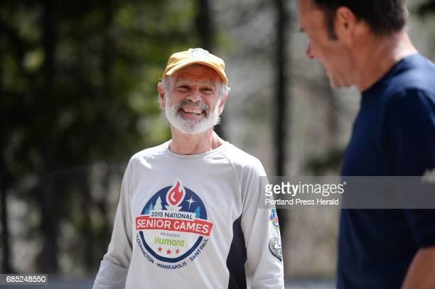 Rudy Kelley of Bernard talks with running partners before running in Acadia Nation Park Saturday May 13 2017