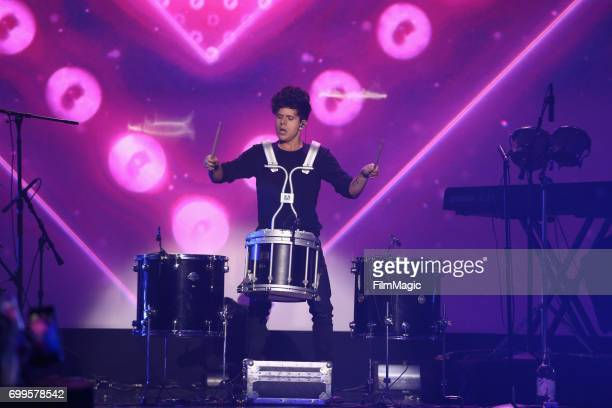 Rudy Mancuso performs at #YouTubeOnstage at VidCon 2017 at Anaheim Convention Center on June 21 2017 in Anaheim California