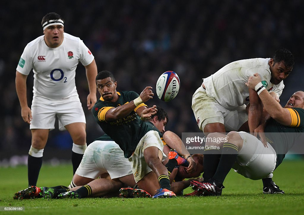 Rudy Paige of South Africa in action during the Old Mutual Wealth Series match between England and South Africa at Twickenham Stadium on November 12, 2016 in London, England.