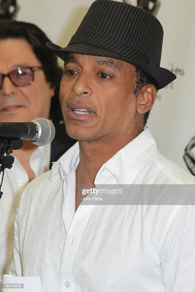 Rudy Perez and <a gi-track='captionPersonalityLinkClicked' href=/galleries/search?phrase=Jon+Secada&family=editorial&specificpeople=211458 ng-click='$event.stopPropagation()'>Jon Secada</a> attends Latin Songwriters Hall Of Fame announcement on January 28, 2013 in Miami, Florida.