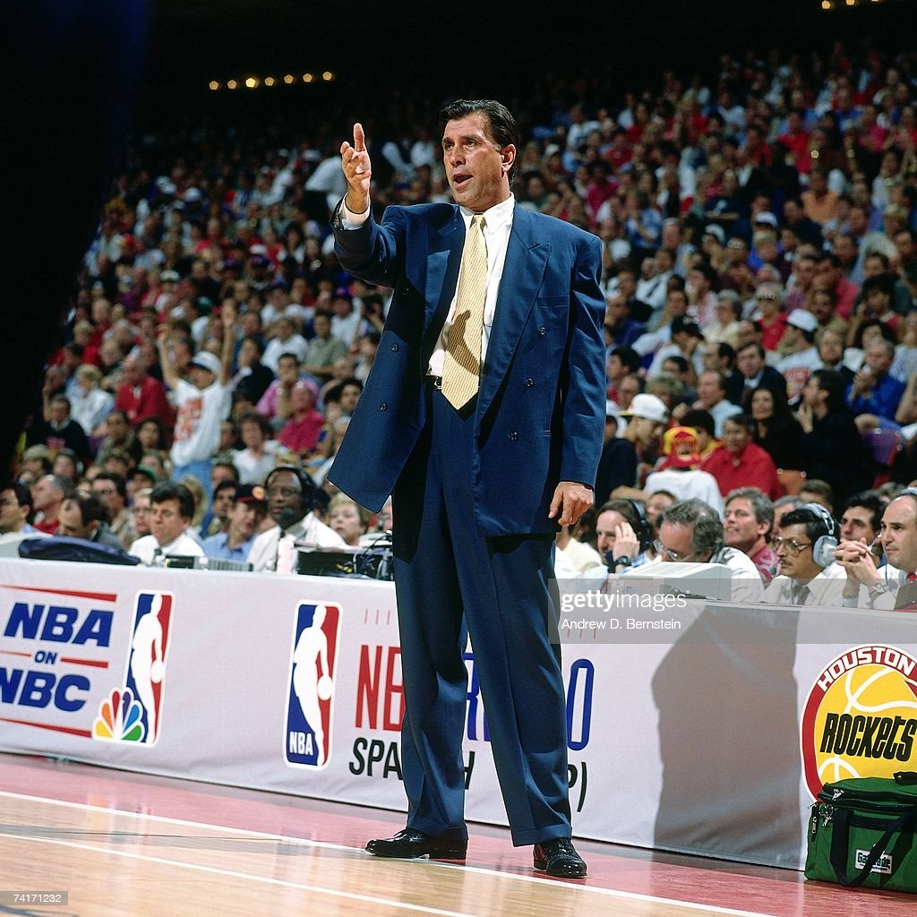 Ho houston rockets nba championship - Rudy Tomjanovich Head Coach Of The Houston Rockets Points Out Something During Game Two Of