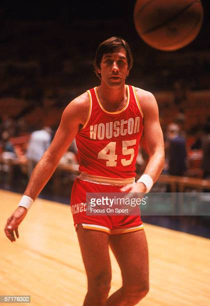 Rudy Tomjanovich of the Houston Rockets poses for an action portrait circa the 1970's prior to a game