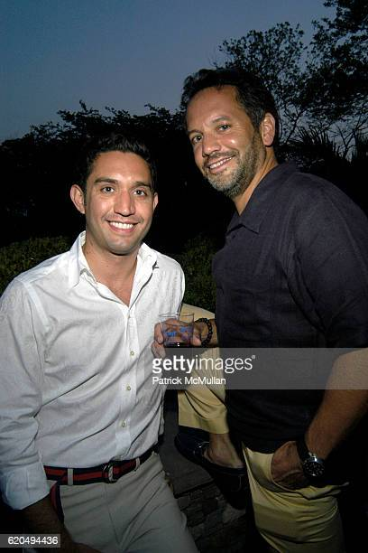 Rudy Vela and Bill Derrogh attend School's Out 2008 benefiting The HetrickMartin Institute home of the Harvey Milk High School at East Hampton on...