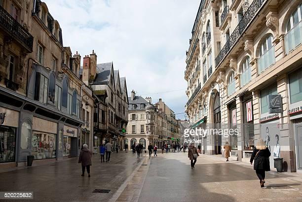 Rue de la Liberte in Dijon, France in April