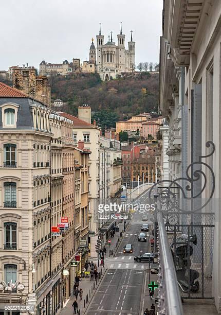 Rue Grenette 19th cent buildings Lyon, France