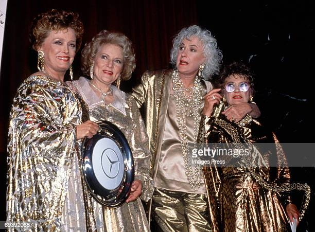Rue McClanahan Betty White Bea Arthur and Estelle Getty attend the Night of 100 Stars III AfterParty circa 1990 in New York City
