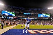 Rueben Randle of the New York Giants scored a touchdown late in the fourth quarter against the Washington Redskins at MetLife Stadium on September 24...