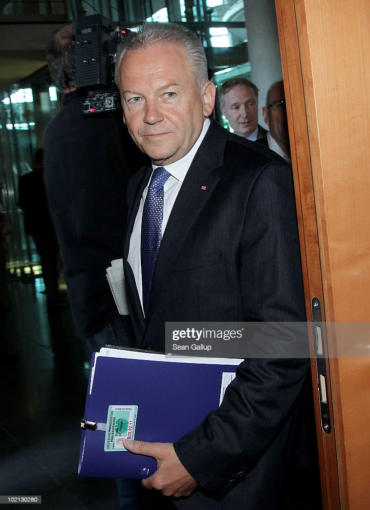 Ruediger Grube, CEO of German state railways Deutsche Bahn, arrives for a hearing of the Bundestag transport commission on June 16, 2010 in Berlin, Germany. Deutsche Bahn has seen a tumultuous past few years with a shelved initial public offering and crippling quality mishaps in some of its trains. The commission was scheduled to question Grube over his plans for brining the company forward.