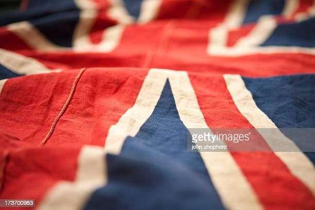 ruffled unionjack flag