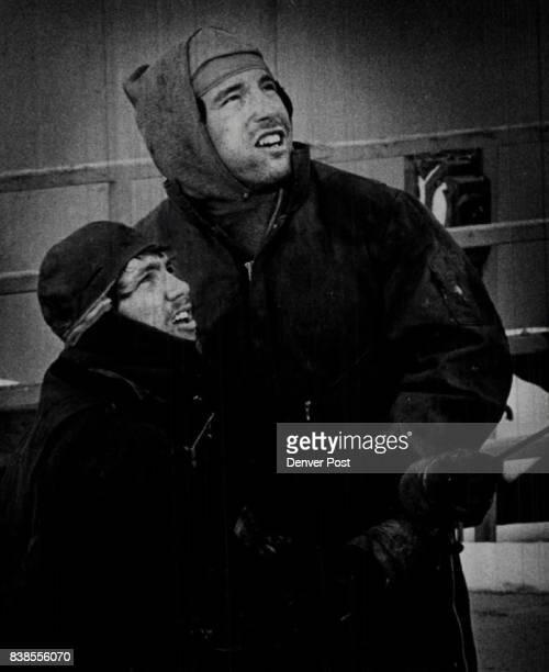 Ruffnecks Troy May Floor Man And John Blakeman Lead Tong Man work on 'Rigging Down' Credit Denver Post
