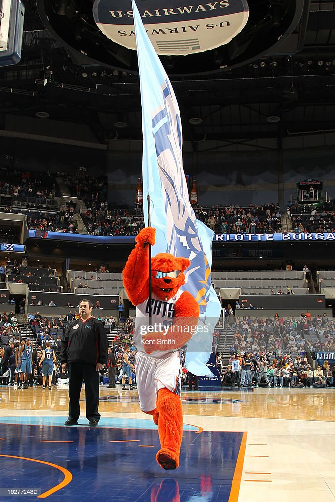 Rufus Lynx of the Charlotte Bobcats runs out before the game against the Minnesota Timberwolves at the Time Warner Cable Arena on January 26, 2013 in Charlotte, North Carolina.