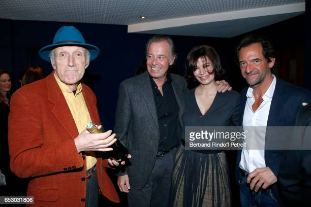 Rufus Michel Leeb Marianne Denicourt and Stephane De Groodt attend the 'Chacun sa vie' Paris Premiere at Cinema UGC Normandie on March 13 2017 in...