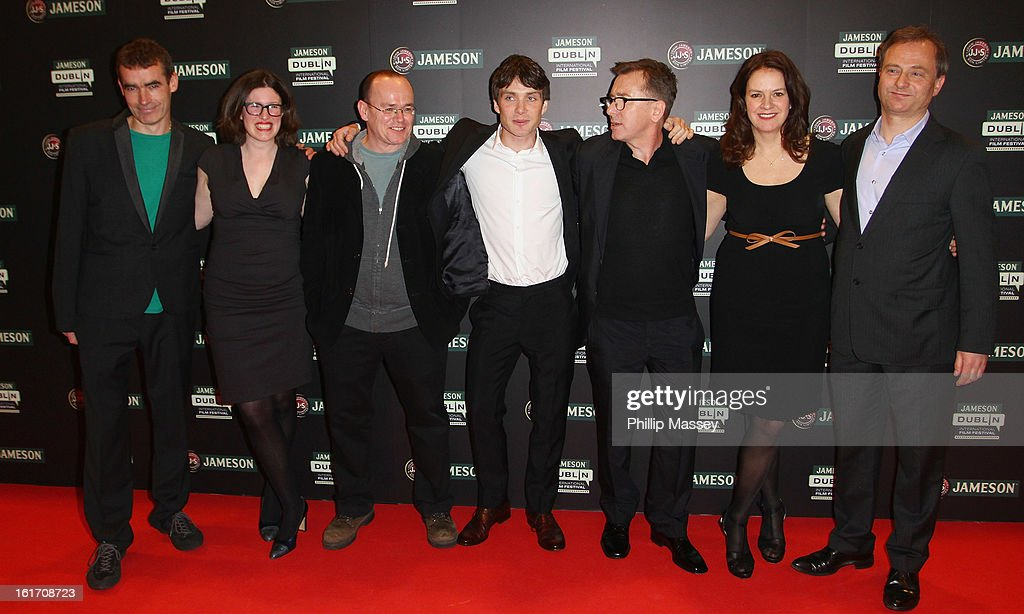 Rufus Norris, Tally Garner, Mark O'Rowe, <a gi-track='captionPersonalityLinkClicked' href=/galleries/search?phrase=Cillian+Murphy&family=editorial&specificpeople=224782 ng-click='$event.stopPropagation()'>Cillian Murphy</a>, <a gi-track='captionPersonalityLinkClicked' href=/galleries/search?phrase=Tim+Roth&family=editorial&specificpeople=213197 ng-click='$event.stopPropagation()'>Tim Roth</a>, Dixie Linder and Nick Marston attend a Gala Screening of 'Broken' as part of the Jameson International Film Festival at Savoy Cinema on February 14, 2013 in Dublin, Ireland.