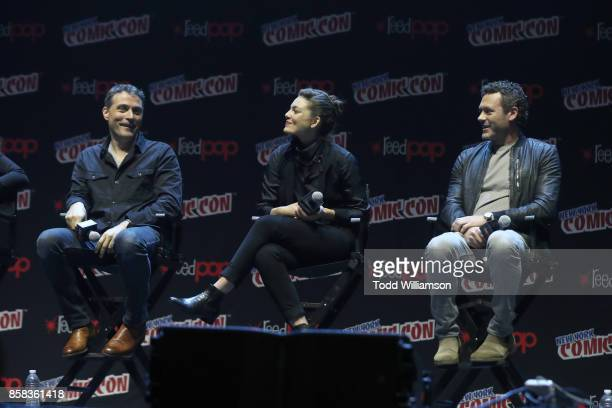 Rufus Sewell Alexa Davalos and Jason O'Mara onstage at 'The World of Philip K Dick' The Man in the High Castle and Philip K Dick's Electric Dreams...