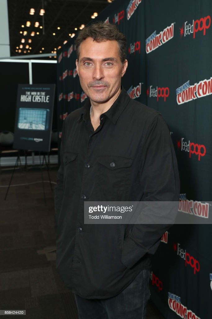 Rufus Sewell attends 'The World of Philip K. Dick' - The Man in the High Castle and Philip K. Dick's Electric Dreams Press Room at The Jacob K. Javits Convention Center on October 6, 2017 in New York City.