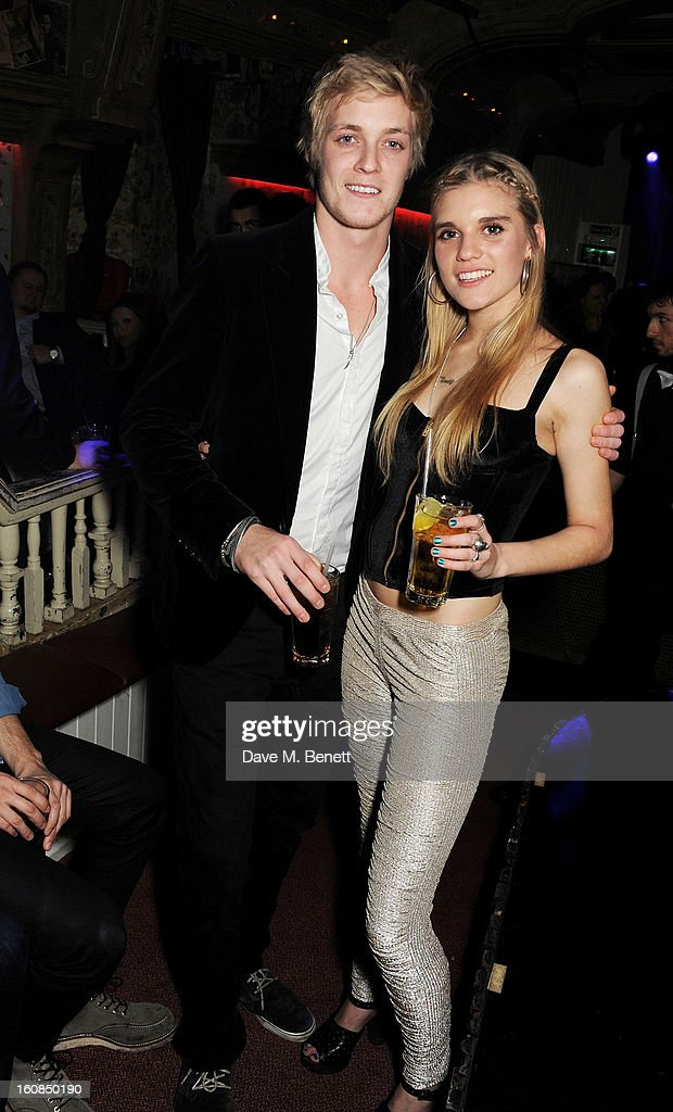 Rufus Taylor (L) and sister Tiger Lily Taylor attend the 2nd Anniversary of The Box with Belvedere Vodka on February 6, 2013 in London, England.
