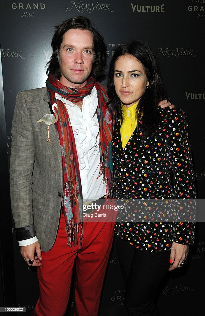 Rufus Wainwright and Joan Lawson attend 'Sing Me The Songs That Say I Love You: A Concert For Kate McGarrigle' premiere after party at Tribeca Grand Hotel on November 10, 2012 in New York City.