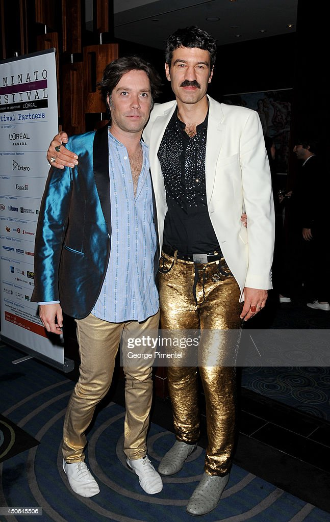 <a gi-track='captionPersonalityLinkClicked' href=/galleries/search?phrase=Rufus+Wainwright&family=editorial&specificpeople=206122 ng-click='$event.stopPropagation()'>Rufus Wainwright</a> and Jorn Weisbrodt attends 'If I Loved You: Gentleman Prefer Broadway-An Evening of Duets' After Party at The Shore Club on June 14, 2014 in Toronto, Canada.