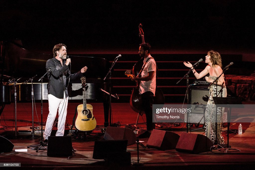 Rufus Wainwright and Martha Wainwright perform at Ford Theatre on August 20, 2017 in Hollywood, California.