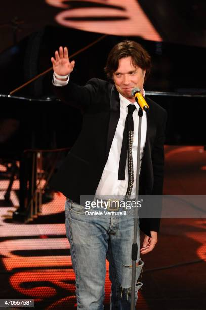Rufus Wainwright attends opening night of the 64th Festival di Sanremo 2014 at Teatro Ariston on February 19 2014 in Sanremo Italy