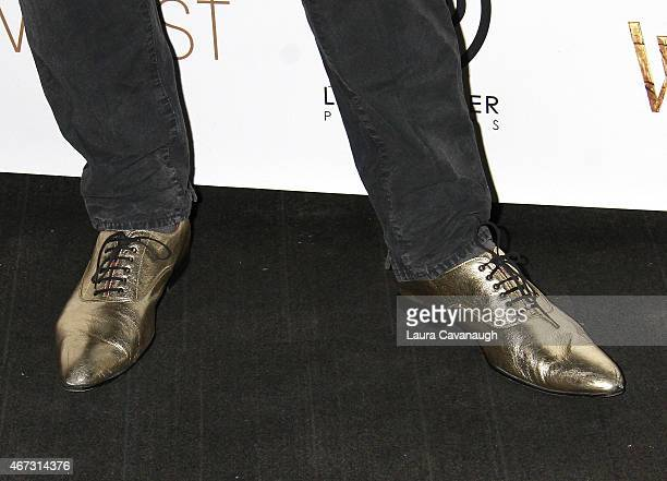 Rufus Wainwright shoe detail attends 'Into The Woods' InHome Release Musical Tribute to Stephen Sondheim at 42West on March 22 2015 in New York City