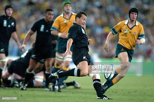 Australia vs New Zealand Carlos Spencer Rugby Coupe du Monde 2003 Demifinale Australie contre NouvelleZélande Carlos Spencer