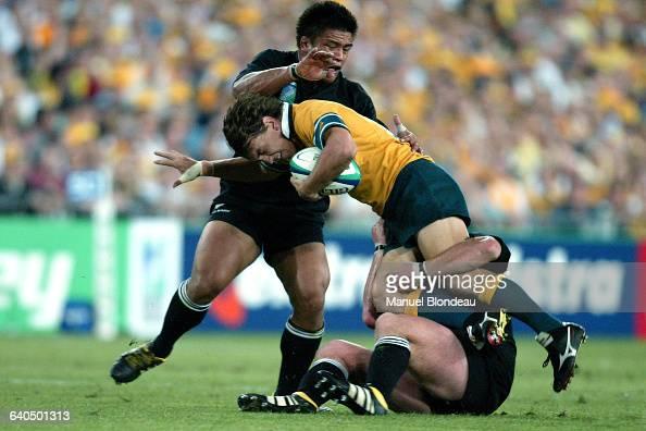 Australia vs New Zealand Mat Rogers Rugby Coupe du Monde 2003 Demifinale Australie contre NouvelleZélande Mat Rogers