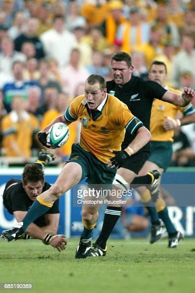 Australia vs New Zealand Stirling Mortlock Rugby Coupe du Monde 2003 Demifinale Australie contre NouvelleZélande Stirling Mortlock