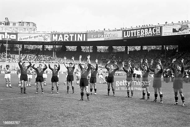 Test Match Australia France Paris 31 octobre 1959 Dans un stade à l'occasion d'un match test de rugby à XIII opposant l'Australie à la France avant...