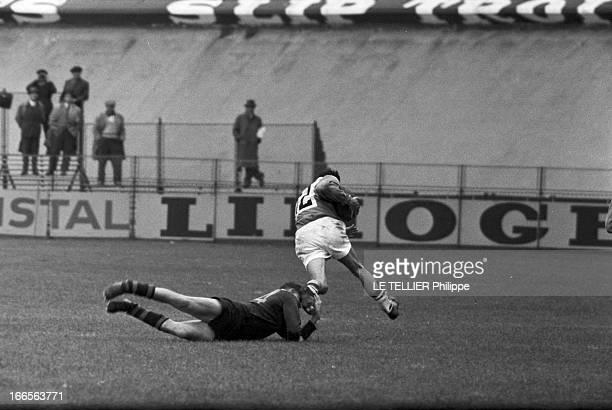 Test Match Australia France Paris 31 octobre 1959 Dans un stade à l'occasion d'un match test de rugby à XIII opposant l'Australie à la France sur le...