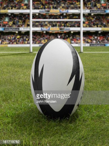 rugby balls and posts