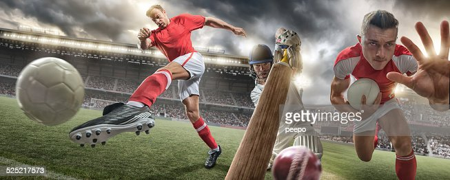 Rugby, Cricket and Football Action